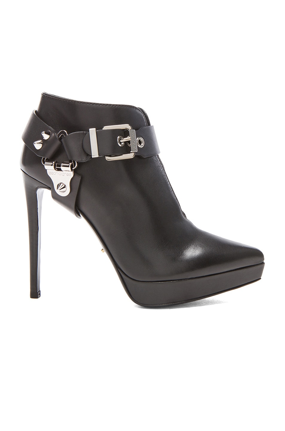 Image 1 of Sergio Rossi Western Leather Booties in Nero