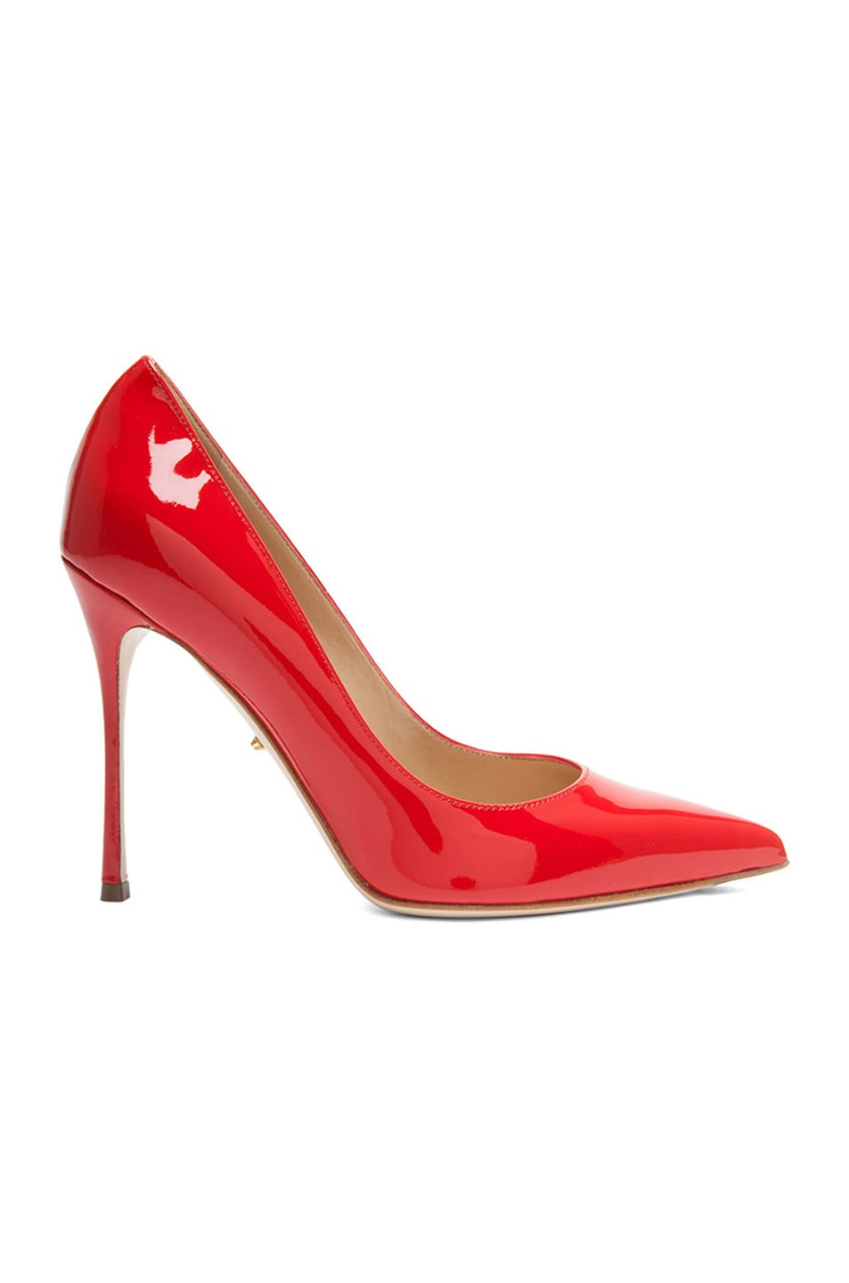 Image 1 of Sergio Rossi Godiva Patent Leather Pumps in Rosso Flamenco