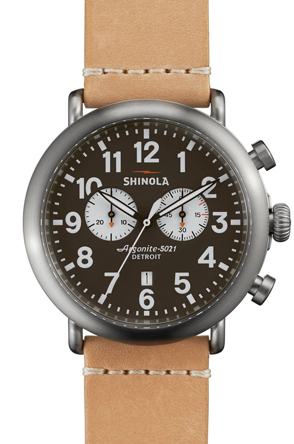 Image 1 of Shinola The Runwell Chrono 47mm in Tan & Black