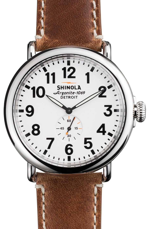Image 1 of Shinola The Runwell 47mm in Brown & White