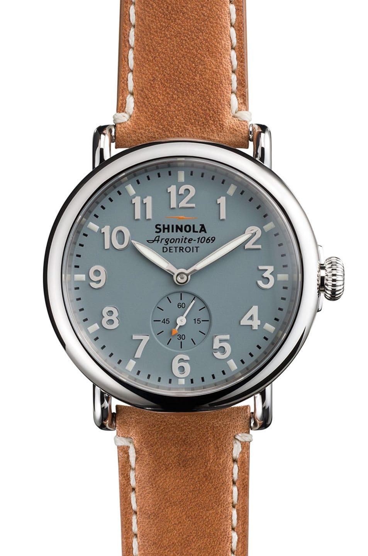 Image 1 of Shinola The Runwell 41mm in Brown & Slate Blue