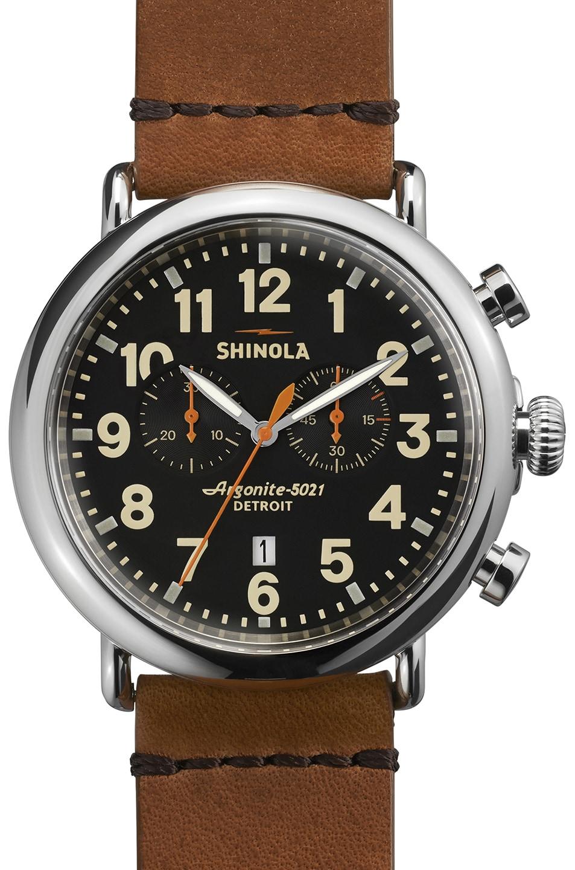 Image 1 of Shinola The Runwell Chrono 47mm in Brown & Black