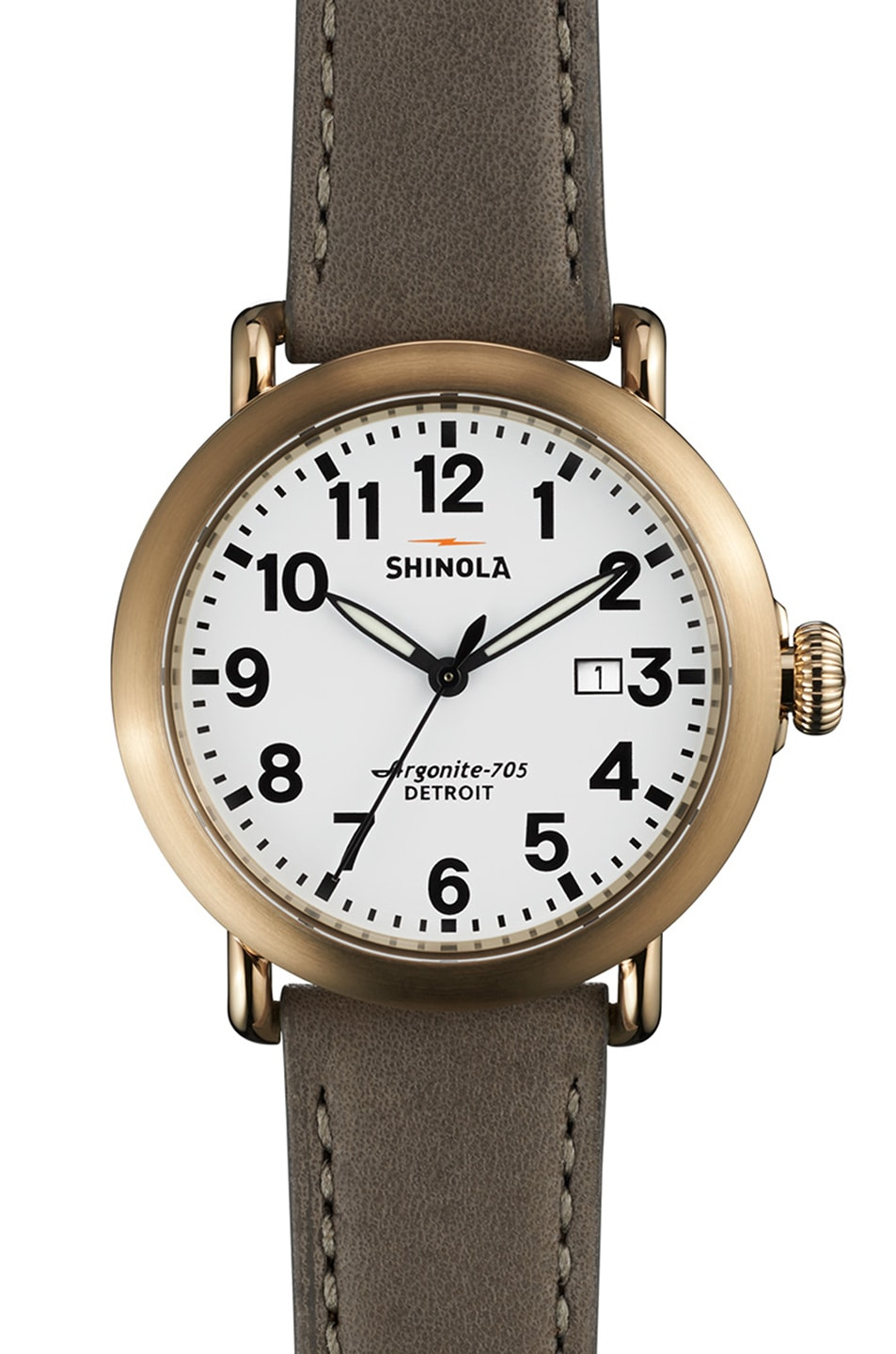 Image 1 of Shinola The Runwell 41mm in Grey & White