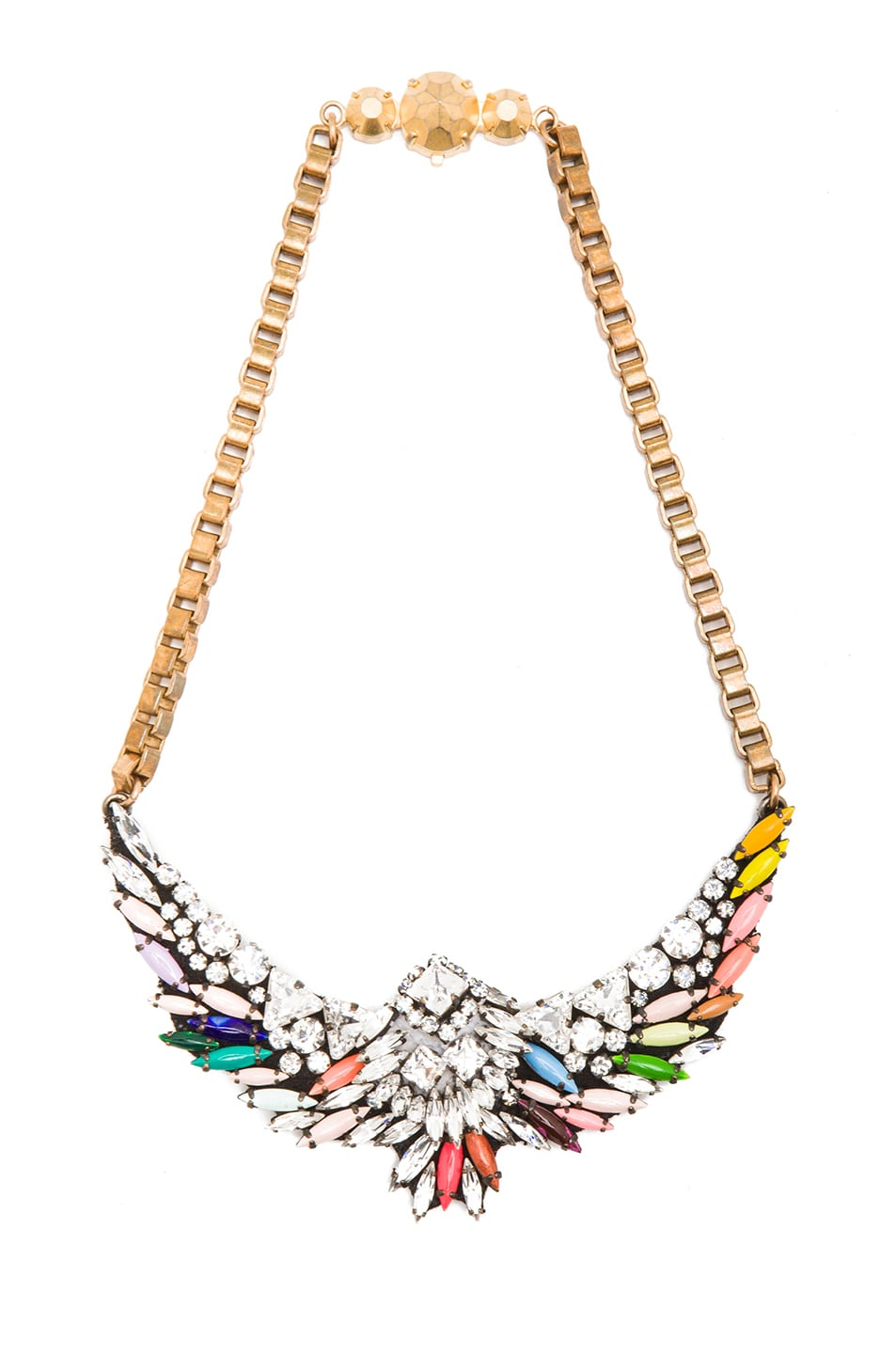 theresa moda necklace large shourouk sequin in by multi operandi mini
