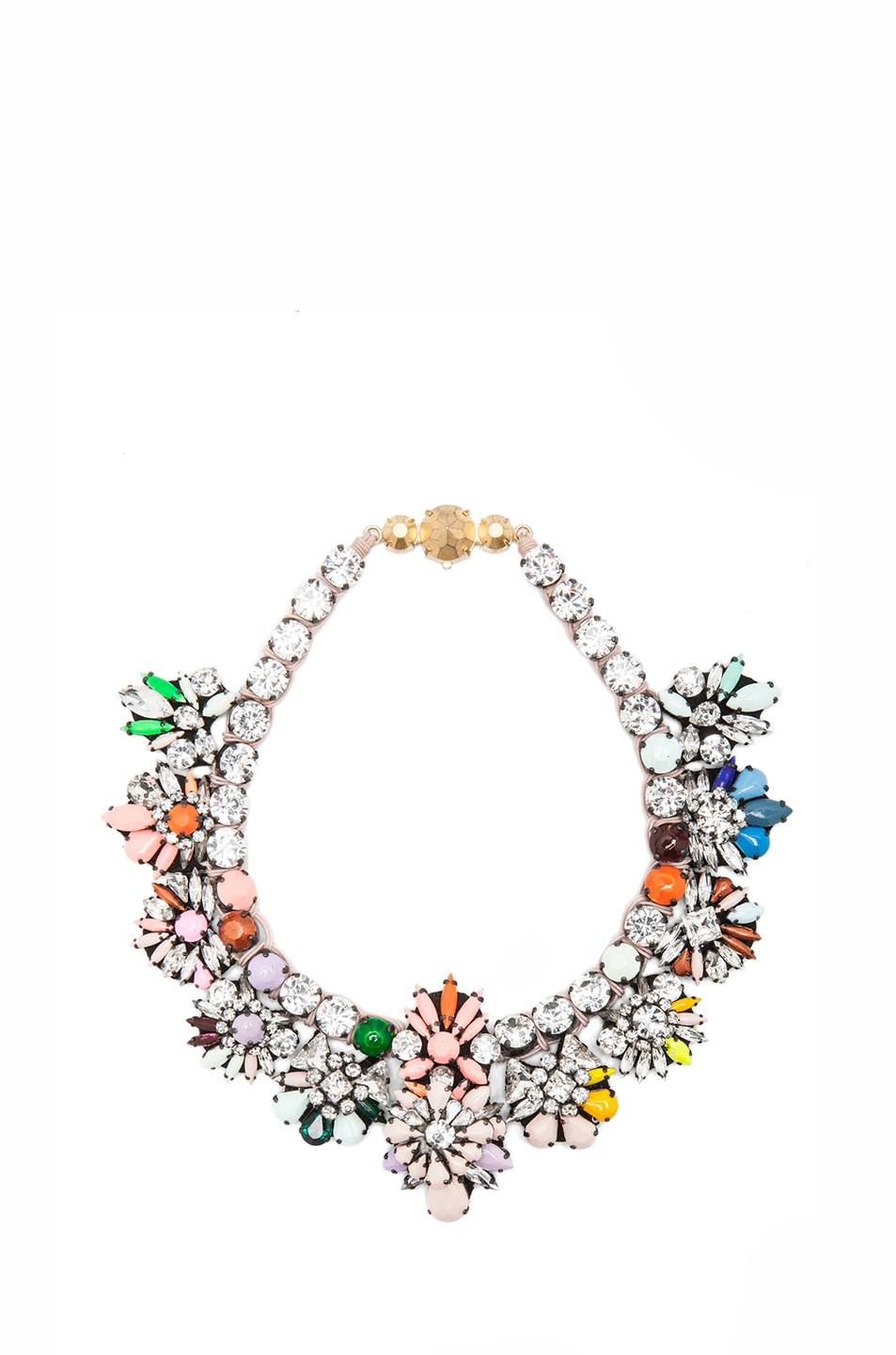 Image 1 of Shourouk Flora Jumble Antique Plated Necklace in Multi