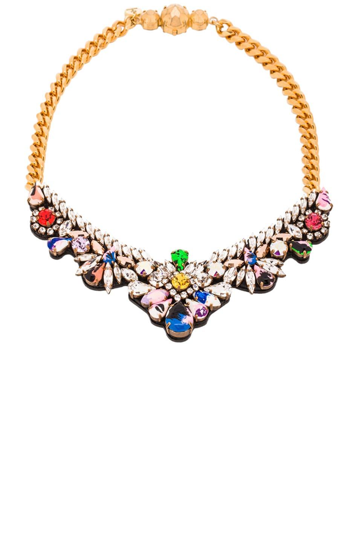 Image 1 of Shourouk Mini Theresa Chain Necklace in Splash Stones