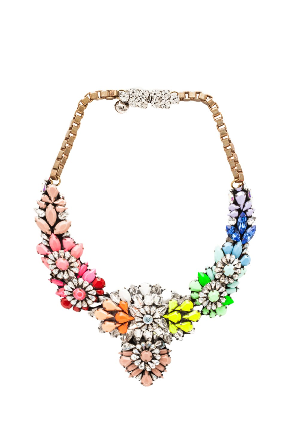 mian red flower choker pink shourouk and vand necklace product