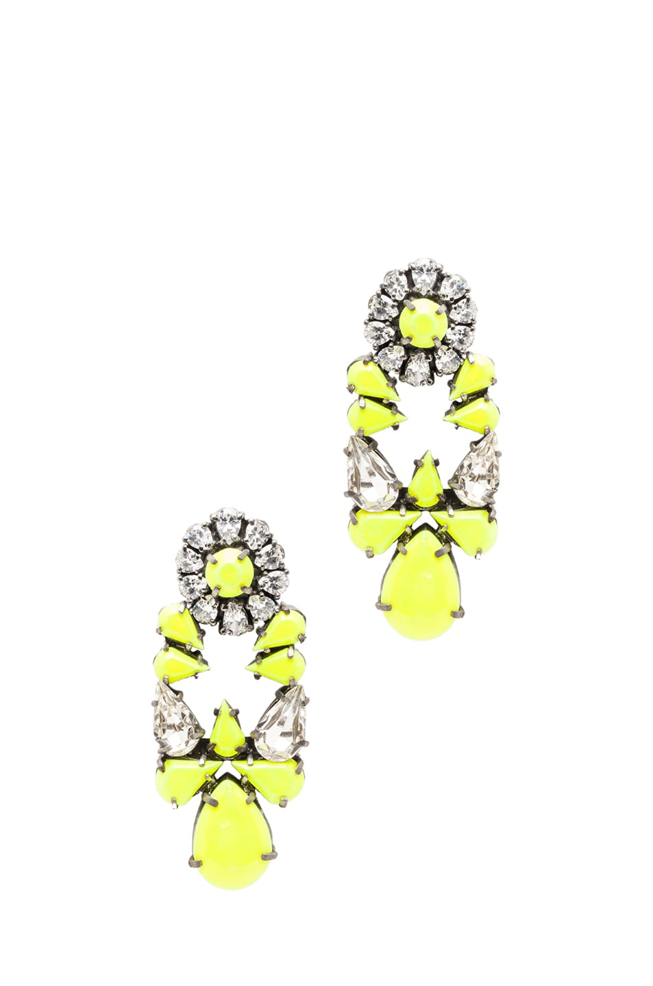 Image 1 of Shourouk Mia Earrings in Yellow