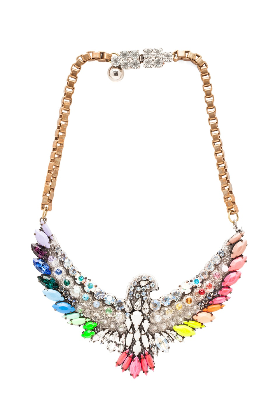 Image 1 of Shourouk Phoenix Necklace in Rainbow