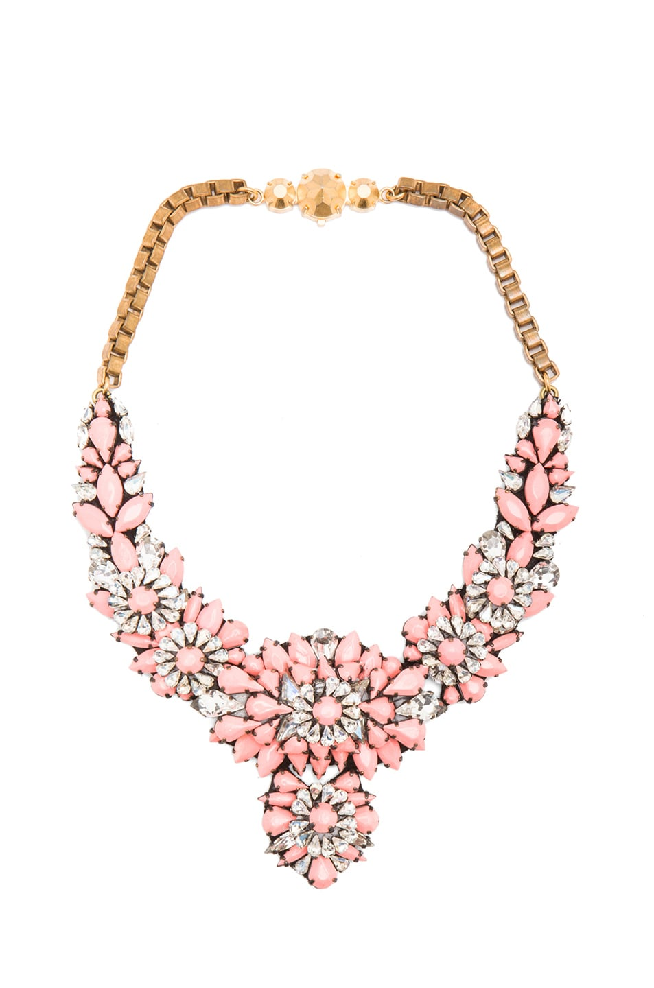 Image 1 of Shourouk Apolonia Capucine Necklace in Coral Multi