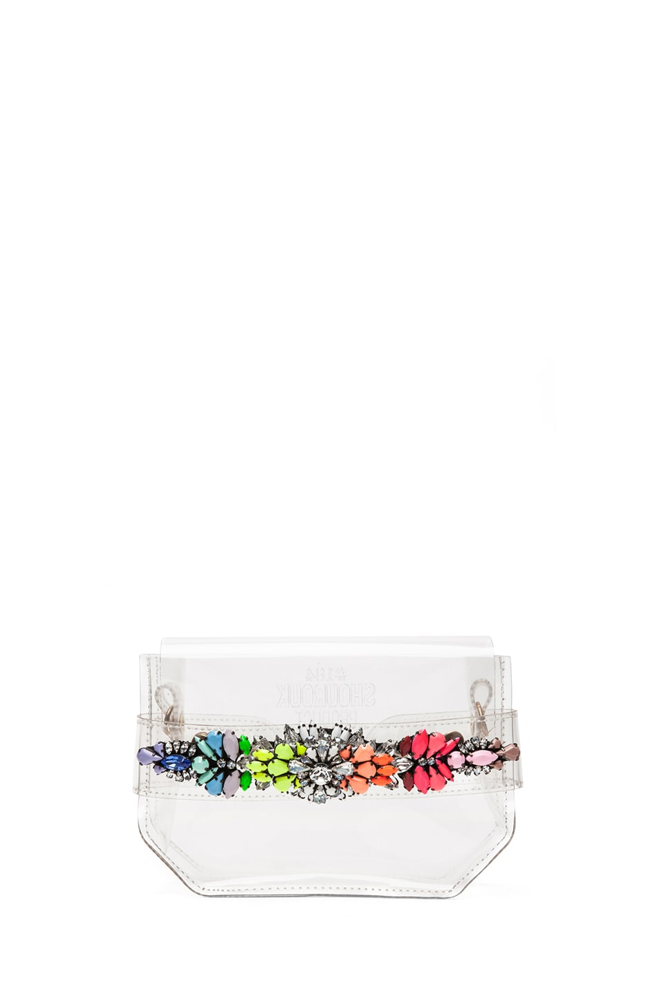 Image 1 of Shourouk Clutch in Rainbow