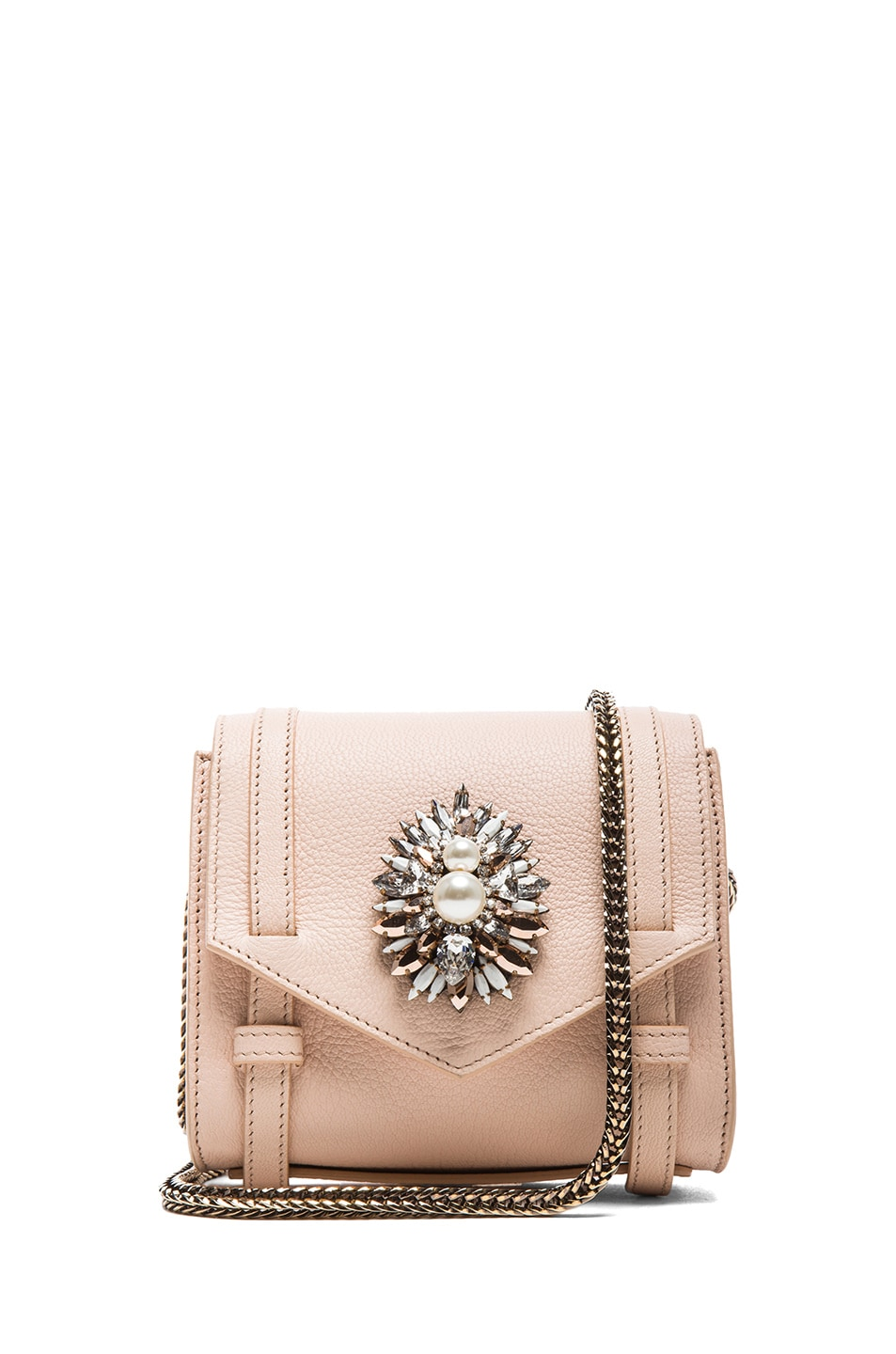 Image 1 of Shourouk Small Daktari Handbag in Nude