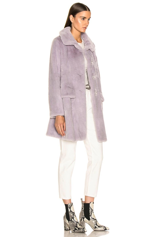 Image 3 of Shrimps Pyrus Faux Fur Coat in Lilac