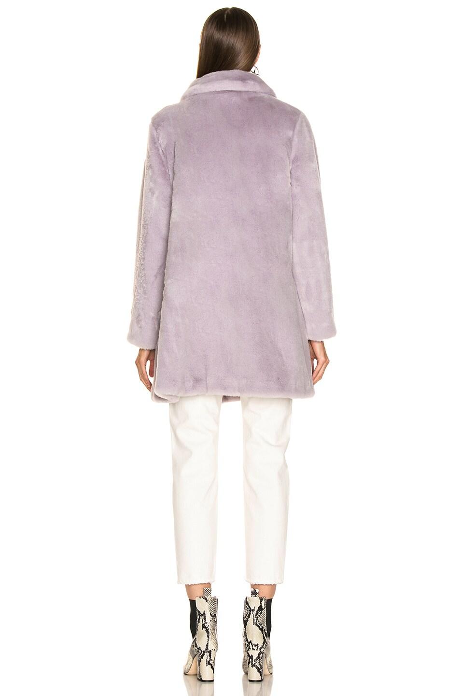 Image 4 of Shrimps Pyrus Faux Fur Coat in Lilac