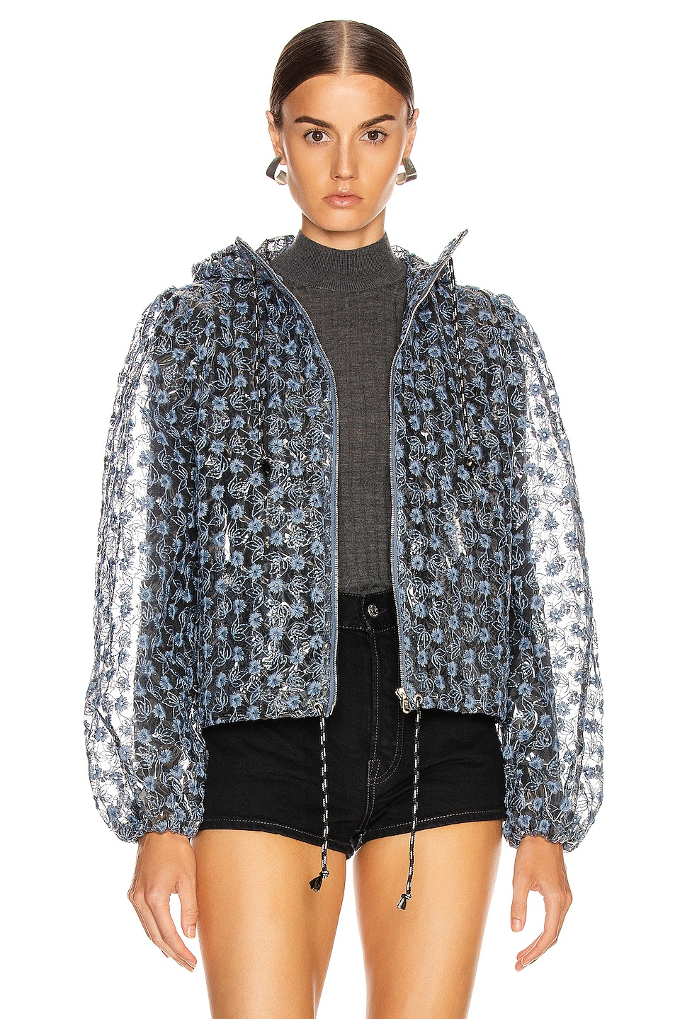 Image 1 of Shrimps Caesar Jacket in Clear & Blue