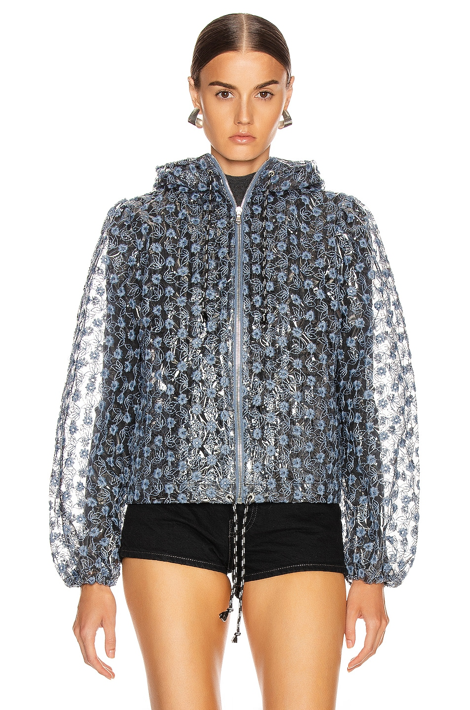 Image 2 of Shrimps Caesar Jacket in Clear & Blue