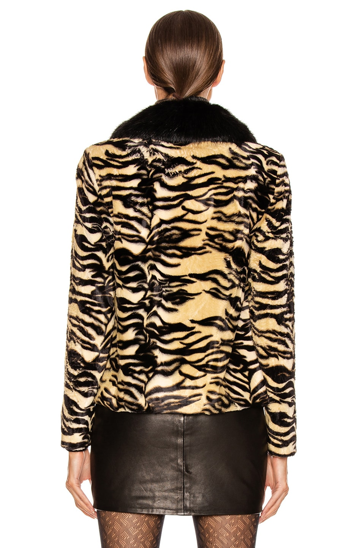 Image 4 of Shrimps Duke Faux Fur Coat in Tiger & Black