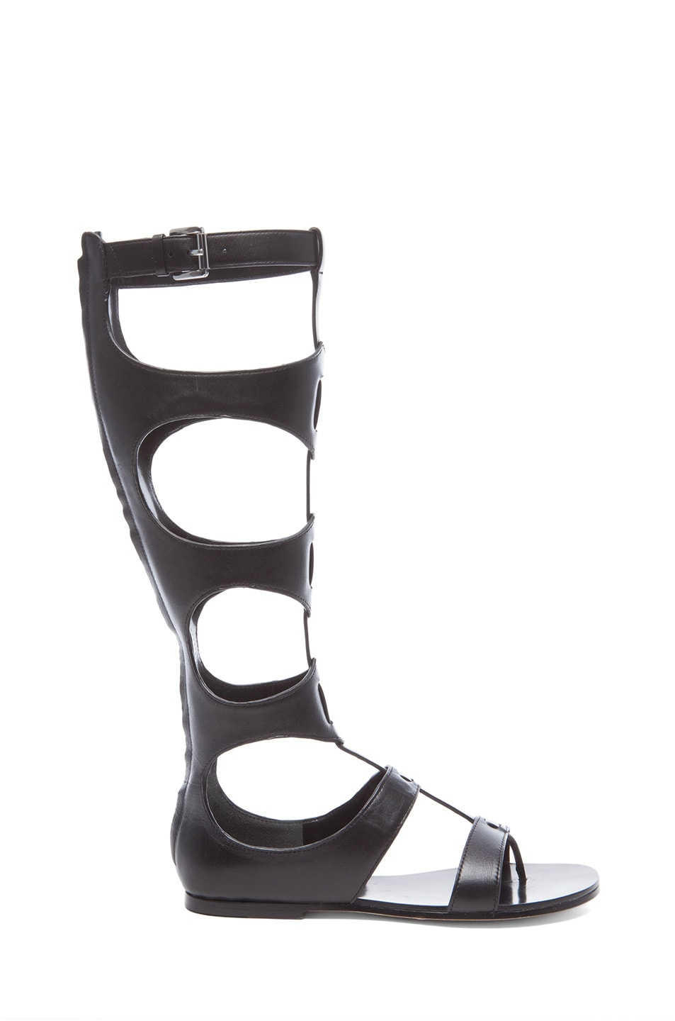 7508101d2f11 Image 1 of Sigerson Morrison Bodie Leather Gladiator Sandals in Black