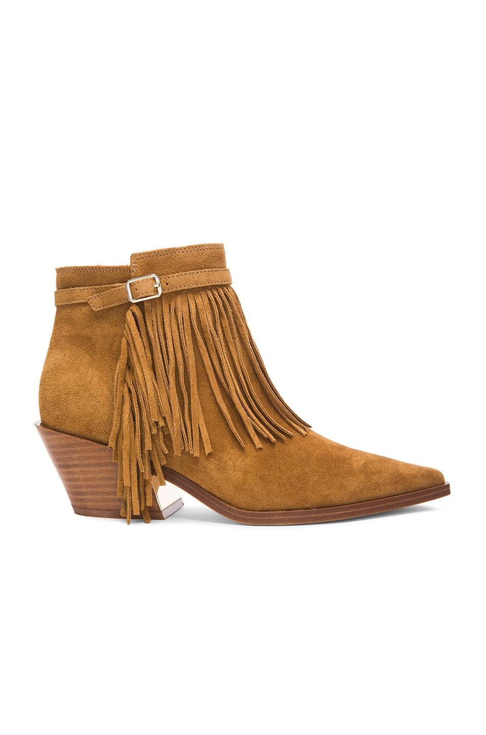 Image 1 of Sigerson Morrison Lena Suede Booties in Caramel