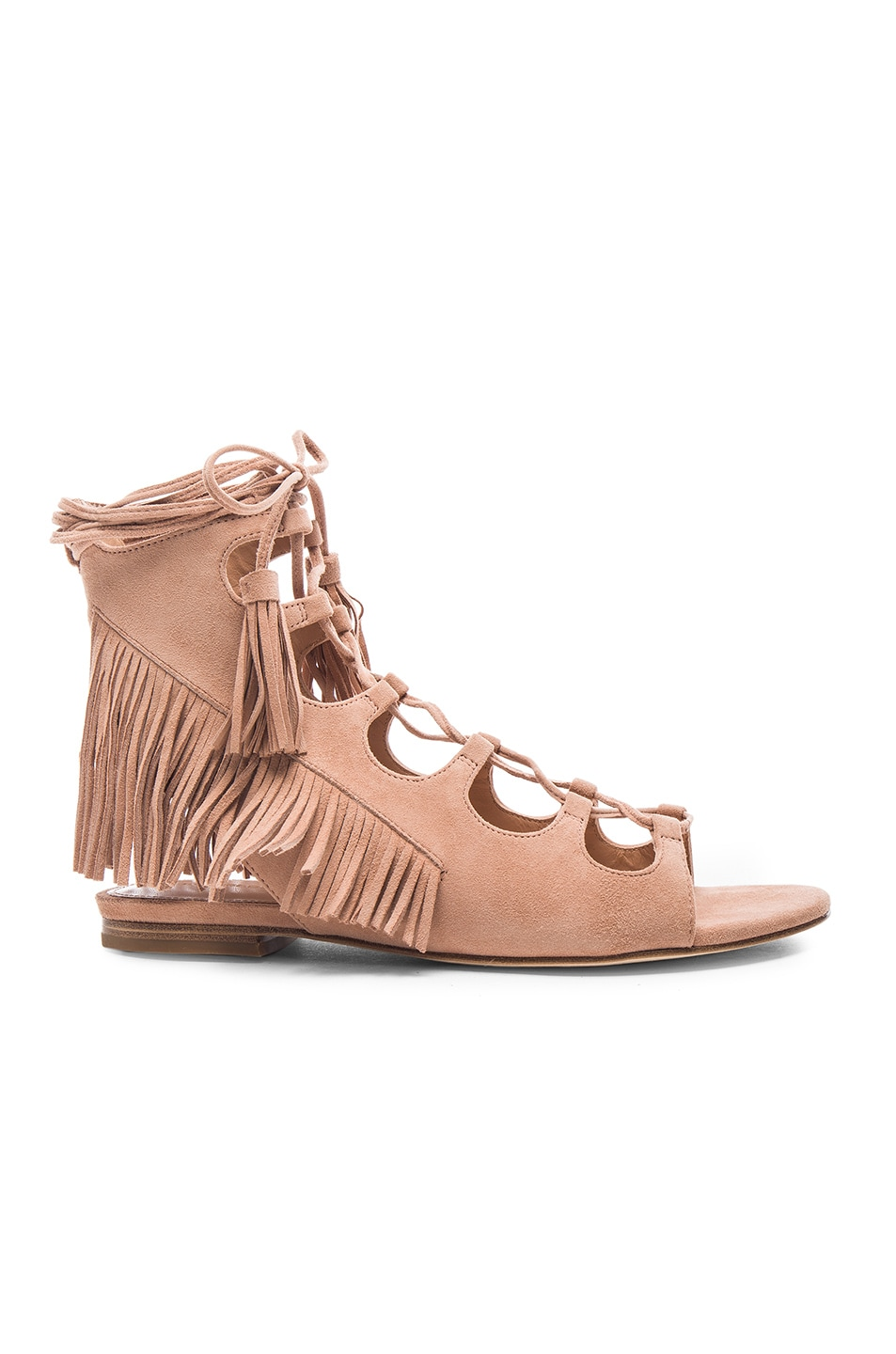 Image 1 of Sigerson Morrison Suede Azzia Sandals in Tan