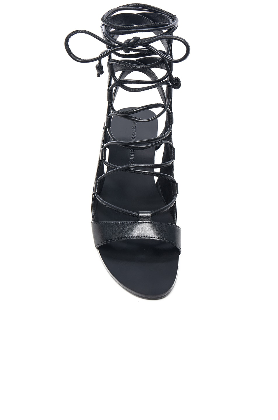 Image 4 of Sigerson Morrison Leather Bunny Sandals in Black