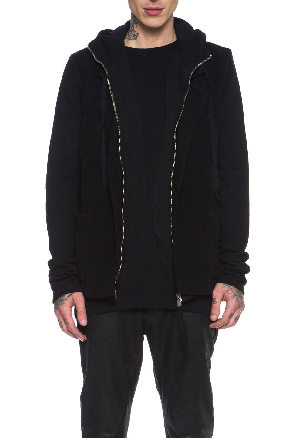 Image 1 of SILENT DAMIR DOMA Cotton Blazer Jacket in Black