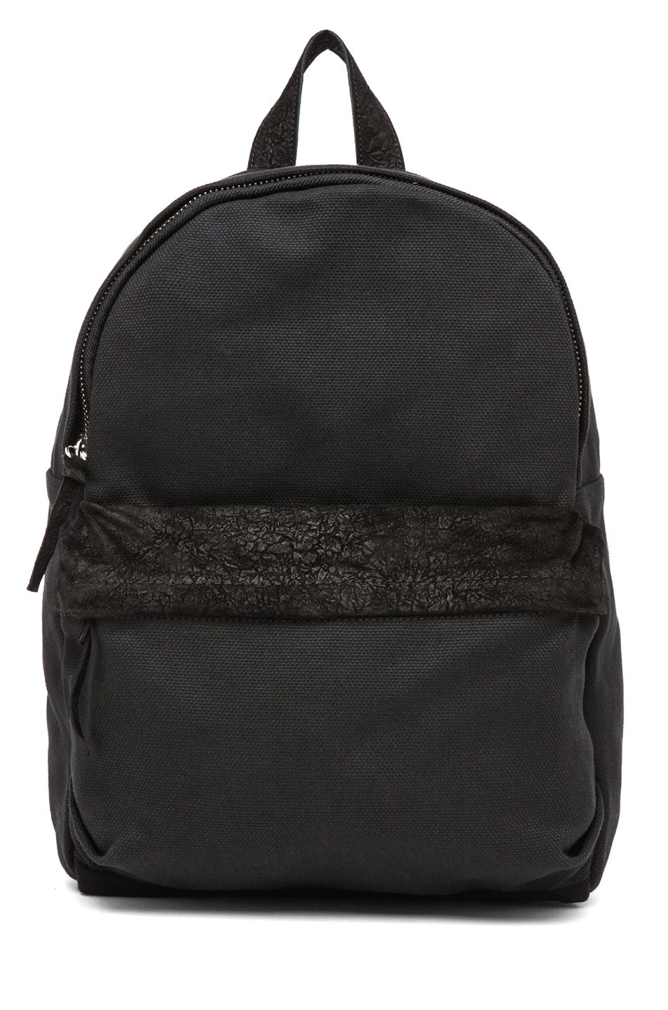 Image 1 of SILENT DAMIR DOMA Broto Leather Backpack in Black