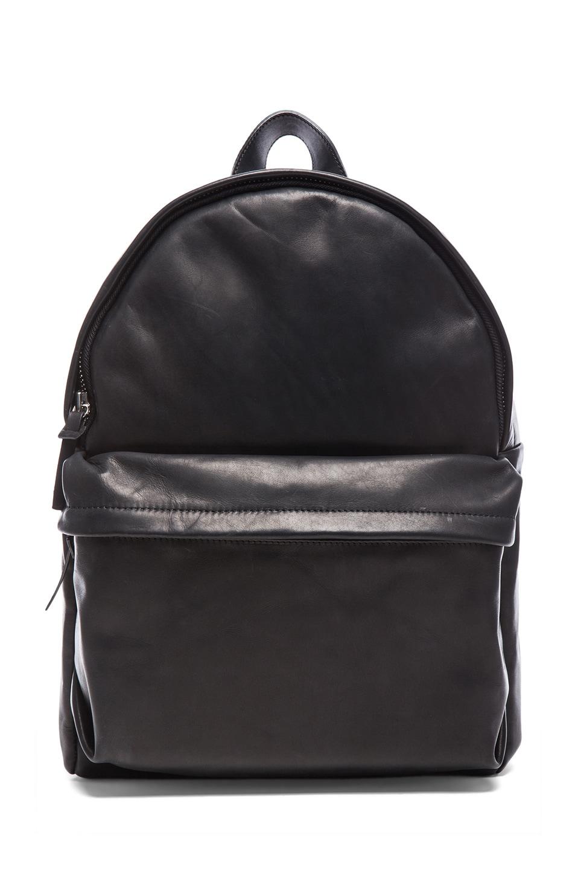Image 1 of SILENT DAMIR DOMA Bay Leather Backpack in Vintage Black