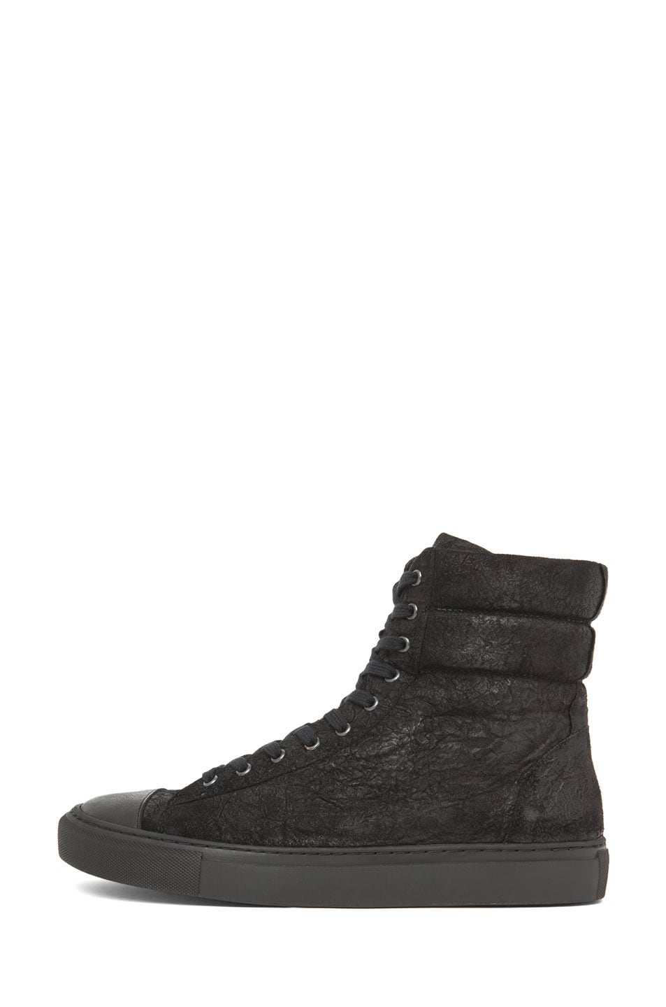 Image 1 of SILENT DAMIR DOMA Satur Leather Sneaker in Black