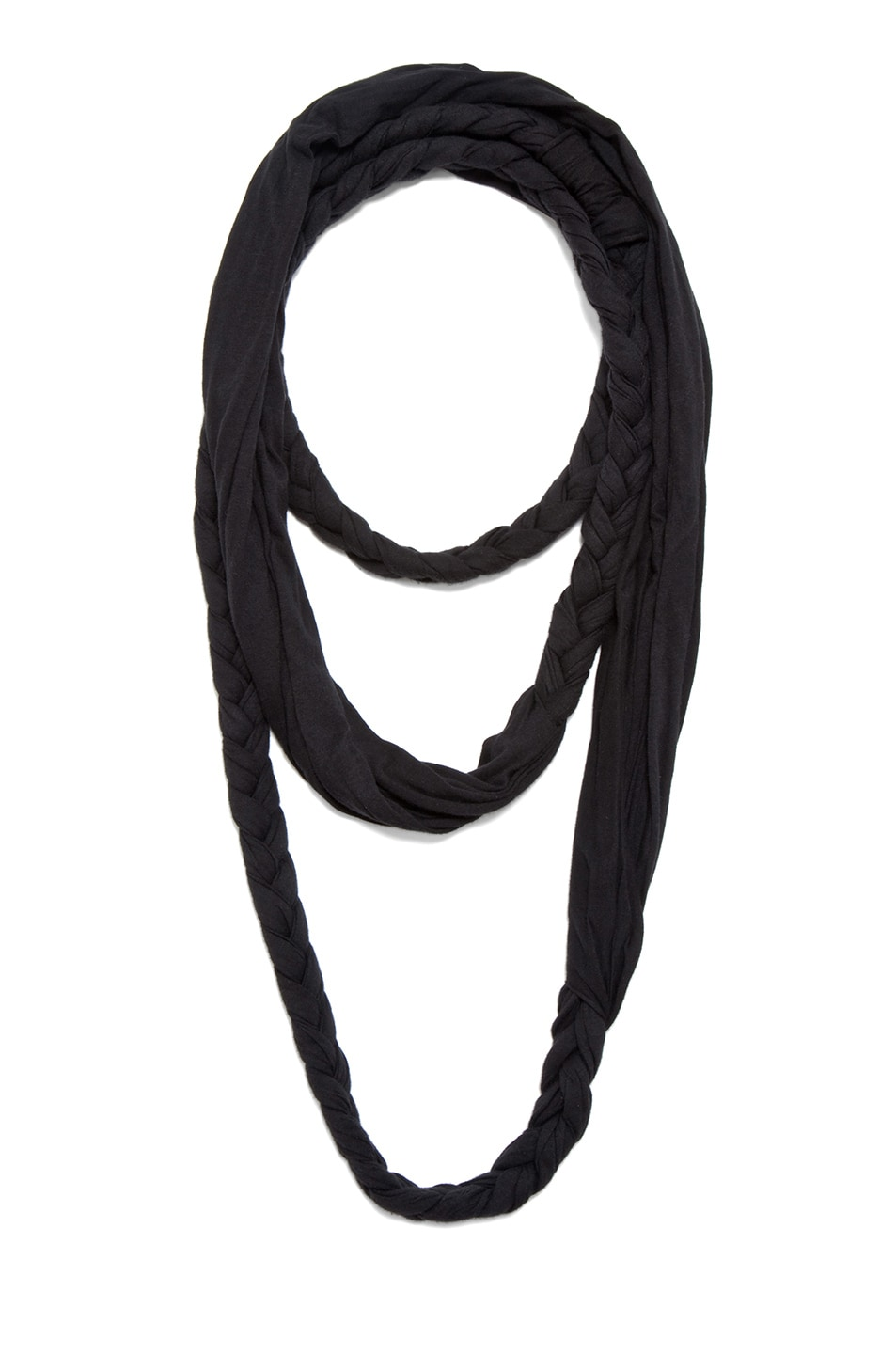 Image 1 of SILENT DAMIR DOMA Aron Braided Scarf in Vintage Black