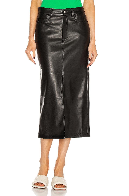 Image 1 of Simon Miller Khan 5 Pocket High Slit Skirt in Black