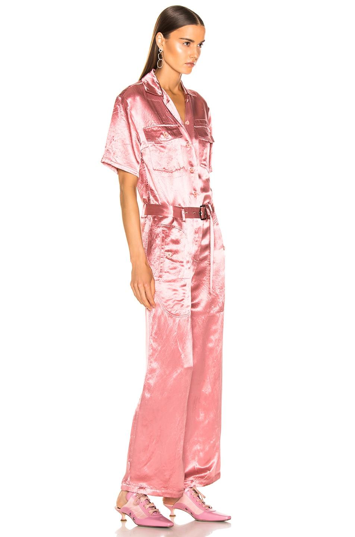 Image 2 of Sies Marjan Neve Satin Pocket Jumpsuit in Dusty Rose