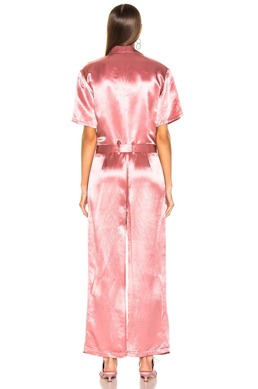 Image 3 of Sies Marjan Neve Satin Pocket Jumpsuit in Dusty Rose