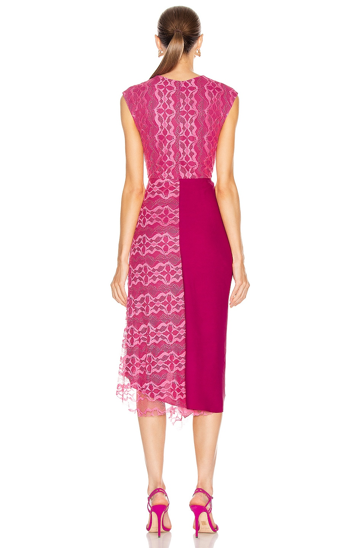 Image 4 of Sies Marjan Anita Lace Asymmetrical Dress in Fluo Pink