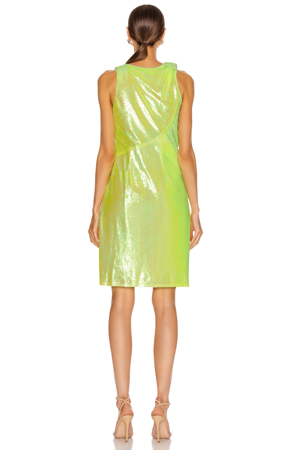 Image 4 of Sies Marjan Quincy Wrapped Dress in Fluo Yellow