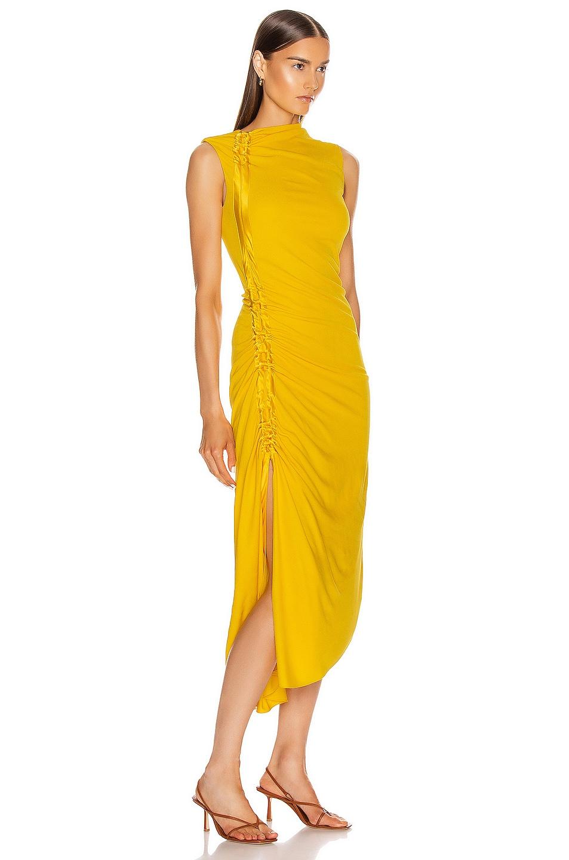 Image 2 of Sies Marjan Fontana Side Ruched Dress in Corn