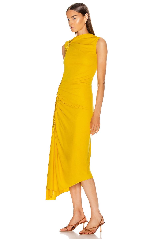 Image 3 of Sies Marjan Fontana Side Ruched Dress in Corn