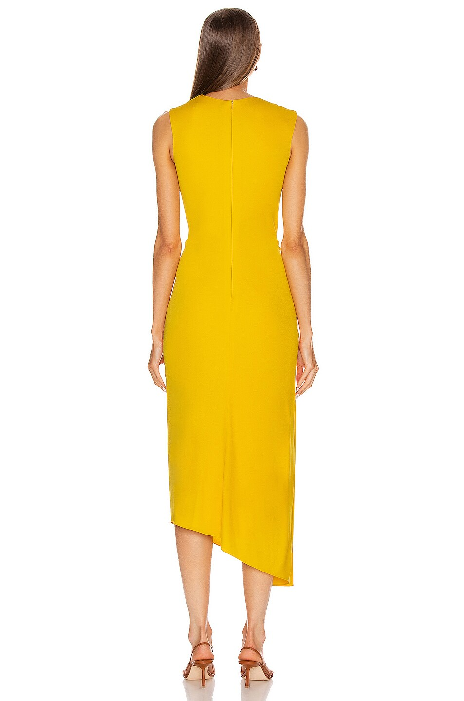 Image 4 of Sies Marjan Fontana Side Ruched Dress in Corn