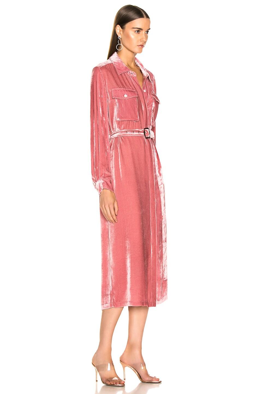 Image 2 of Sies Marjan Imogene Cord Tie Front Dress in Dusty Rose