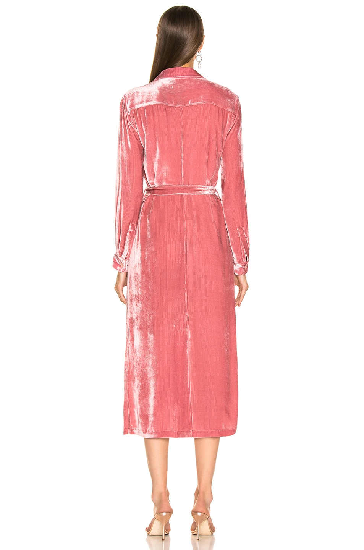 Image 3 of Sies Marjan Imogene Cord Tie Front Dress in Dusty Rose