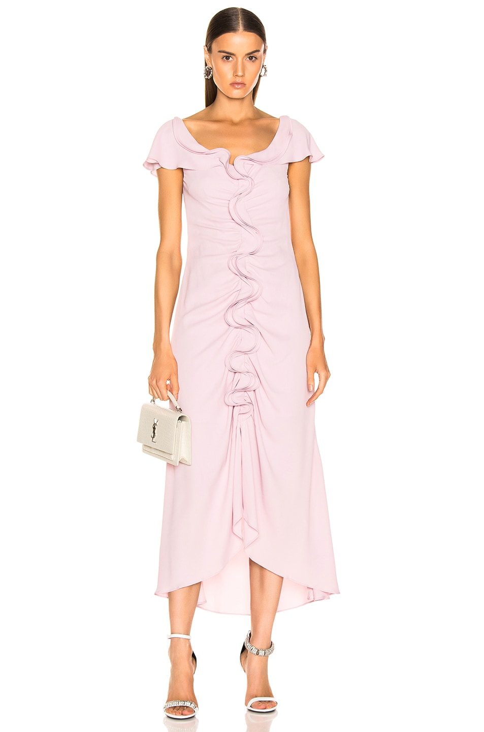 Image 1 of Sies Marjan Portia Marocaine Ruched Dress in Soft Pink