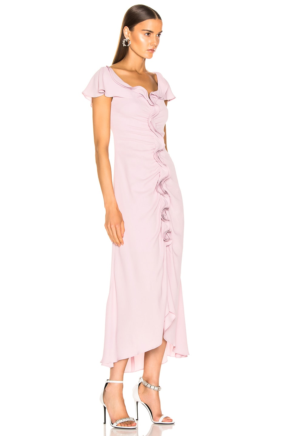 Image 2 of Sies Marjan Portia Marocaine Ruched Dress in Soft Pink