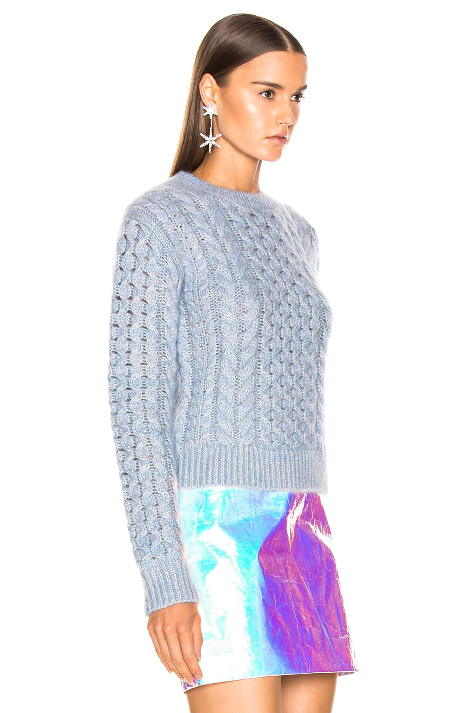 Image 2 of Sies Marjan Britta Cable Knit Sweater in Ice Blue