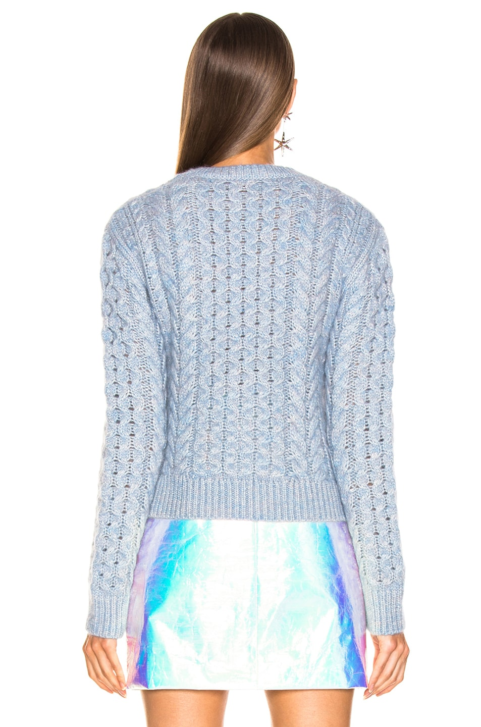 Image 3 of Sies Marjan Britta Cable Knit Sweater in Ice Blue
