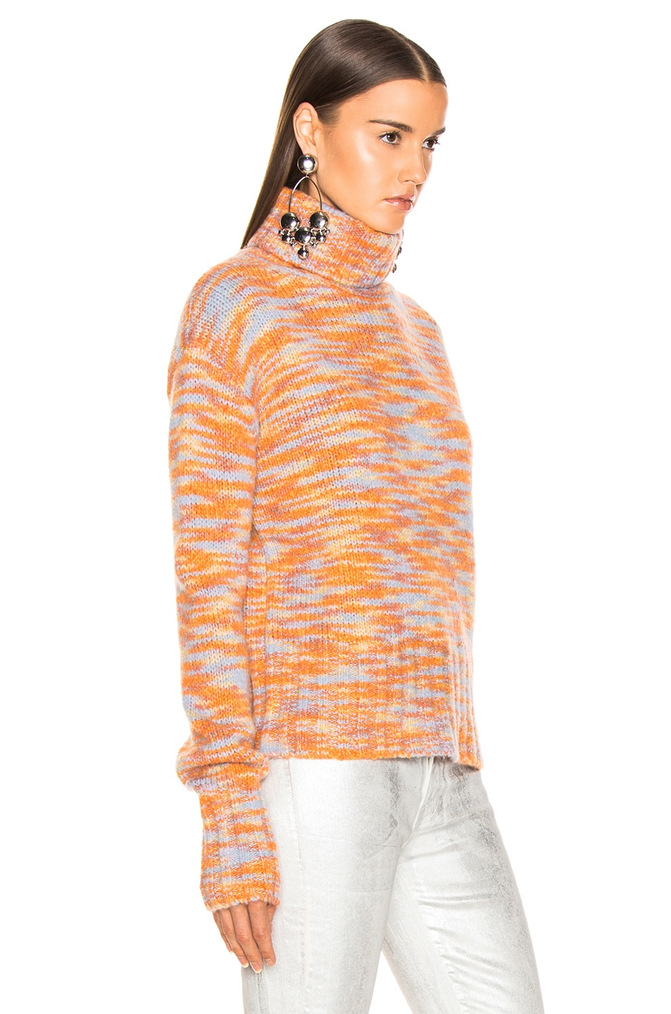 Image 2 of Sies Marjan Parker Turtleneck Sweater in Peach, Lime & Blue
