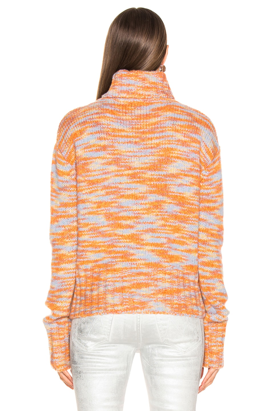 Image 3 of Sies Marjan Parker Turtleneck Sweater in Peach, Lime & Blue