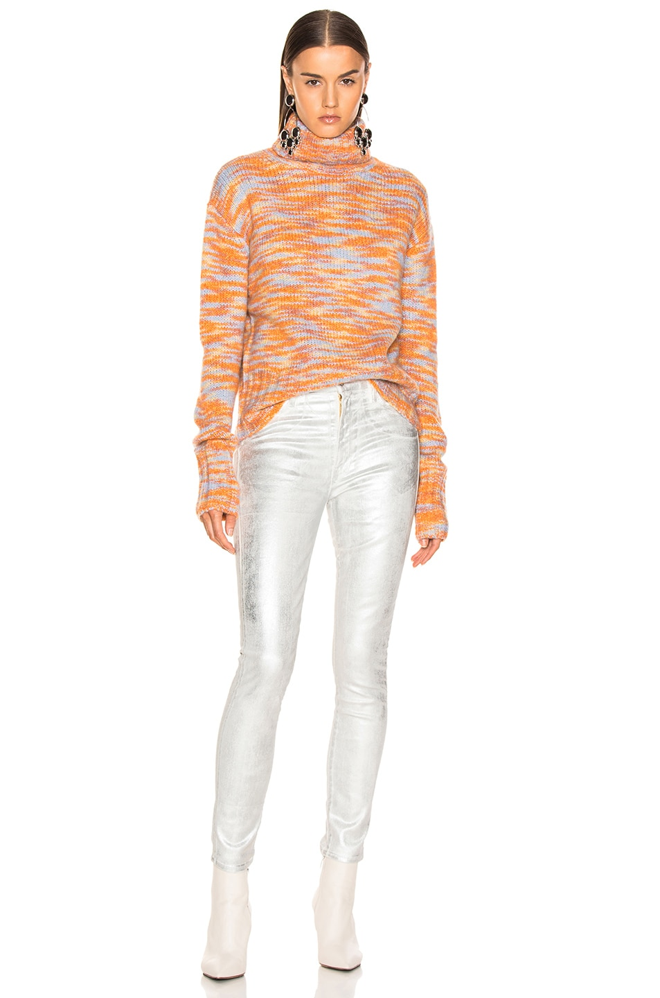 Image 4 of Sies Marjan Parker Turtleneck Sweater in Peach, Lime & Blue