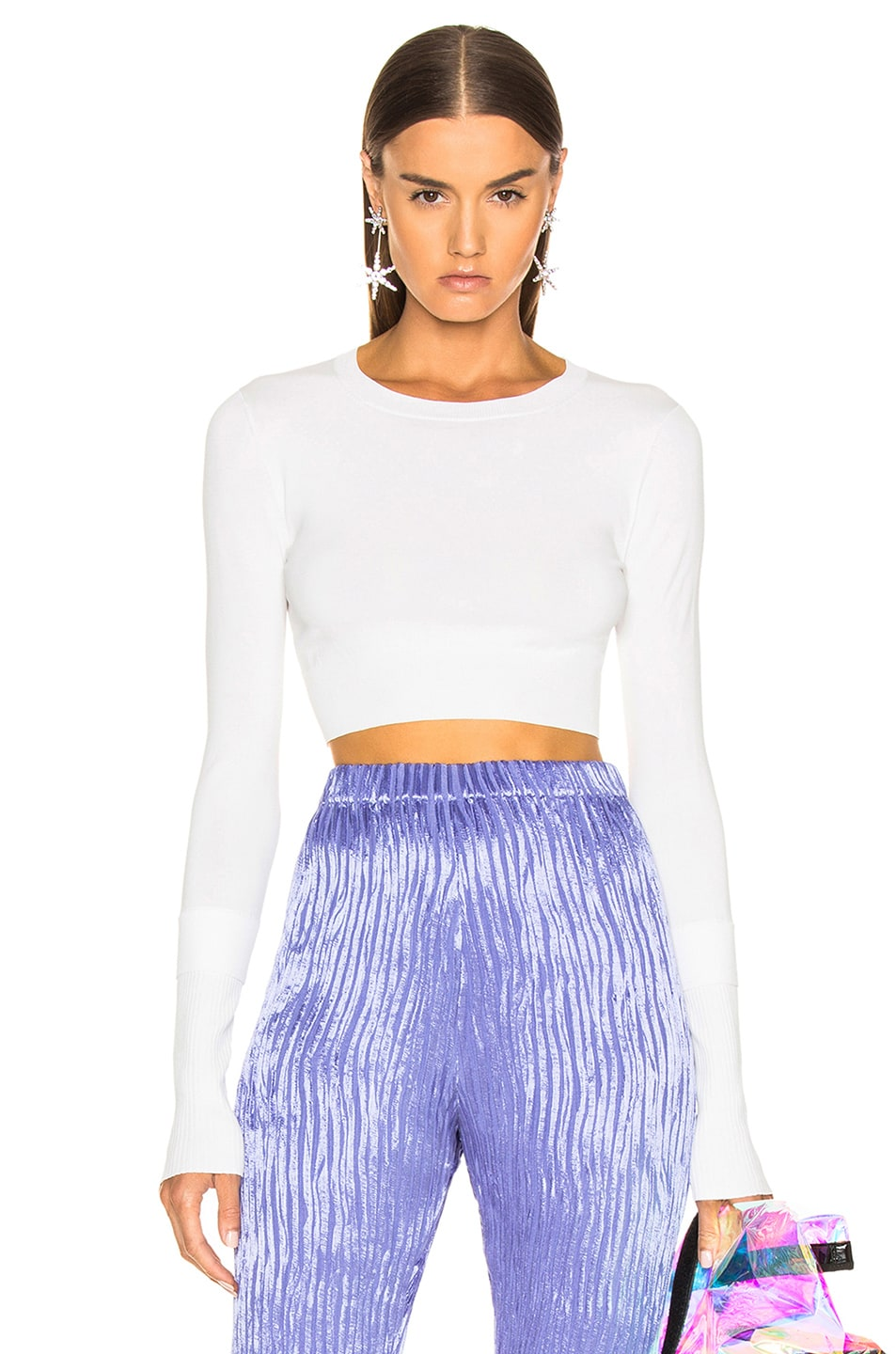 Image 1 of Sies Marjan Gwin Crop Crew Sweater in Salt
