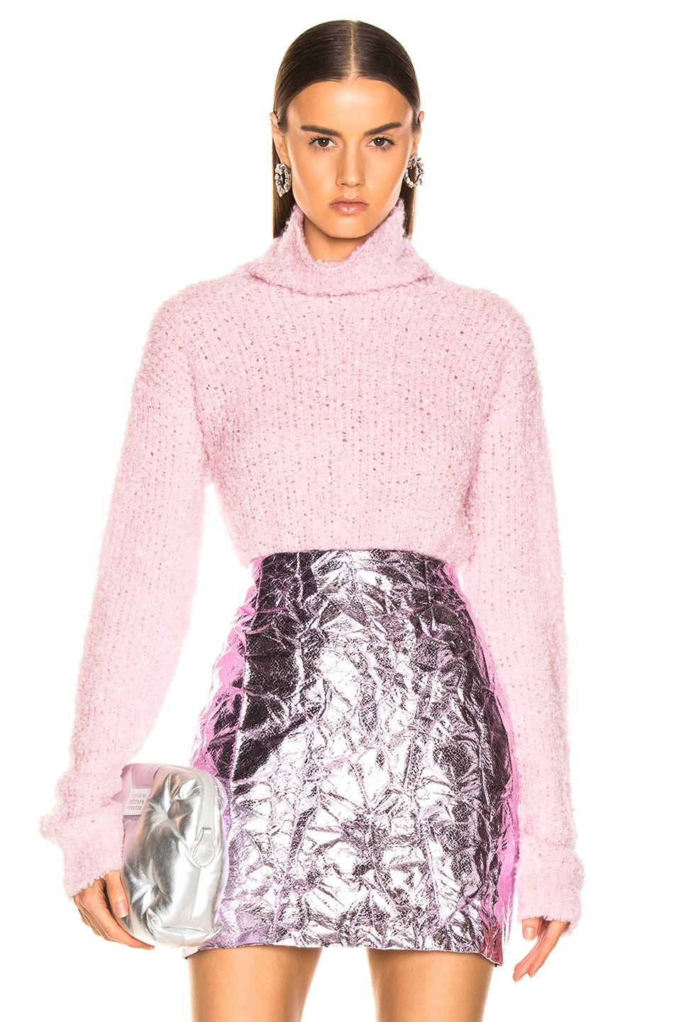 Sies Marjan Sukie Boucle Turtleneck Soft Pink outlet