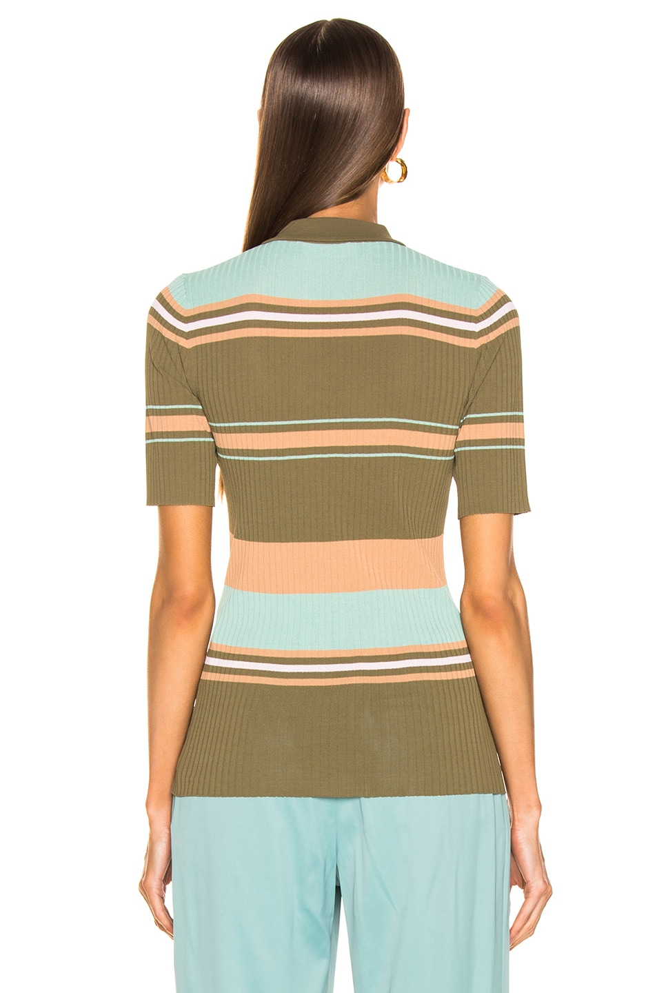 Image 3 of Sies Marjan Rory Collared Sweater in Olive Multi